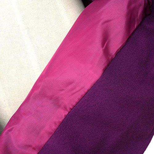 Manteau à Capuchon Femme,LMMVP Femmes Hiver Chaud Encapuchonné Longue Manteau de Section Ceinture Double Veste à Poitrine violet