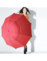 westeng paraguas de viaje plegable anti UV lluvia sol paraguas resistente al viento tamaño grande para sombrilla paraguas, rojo