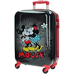 Disney Retro Comic Black Equipaje Infantil, 33 Litros, Color Negro