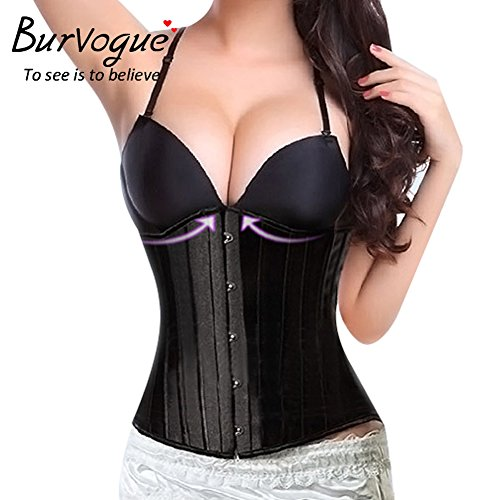 Burvogue Women's 26 Steel Boned Underbust Waist Training Corset