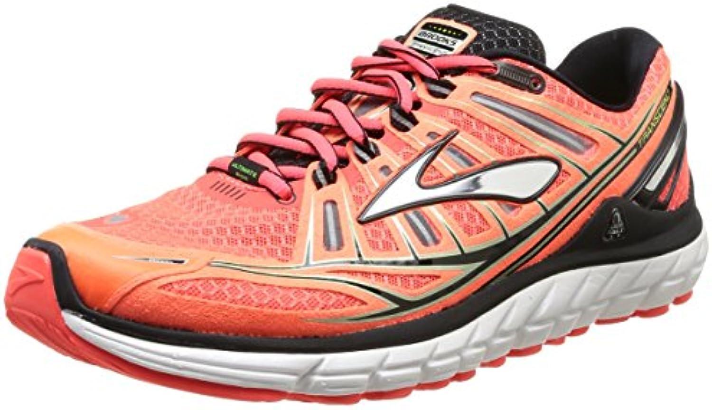 Brooks Trascendent - Zapatillas de running para hombre, color fierycoral/silver/green, talla 41