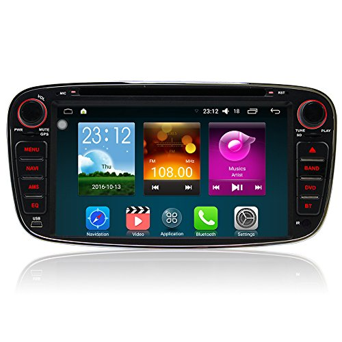 a-sure-android-511-bluetooth-7-zoll-autoradio-3g-wifi-dvd-gps-schwarz-fur-ford-focus-mondeo-s-max-c-