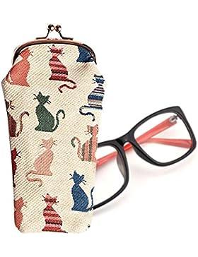 Estuche para gafas Signare en tela de tapiz (Gato descarado)