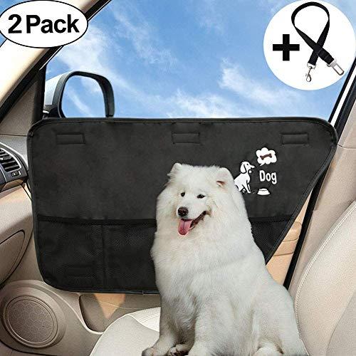 Auto Sitzabdeckung hundedecke hunde autositz wasserdichter Hundesitzbezüge,Auto-Tür Schutz für Hunde,Wasserfest und kratzfest,Rücksitzschutz für Autos Trucks und SUVs (Tür-schutz Für Hunde)
