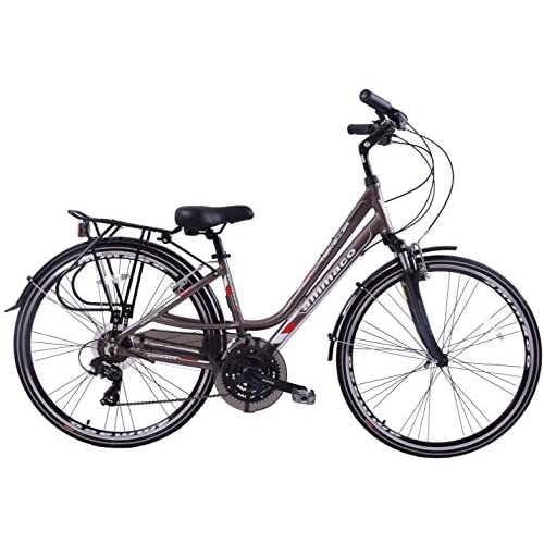 "51I39k5UAIL. SS500  - Ammaco Traveller 700c Womens Hybrid Bike Front Suspension Alloy Low Step 16"" Frame Grey 21 Speeed"