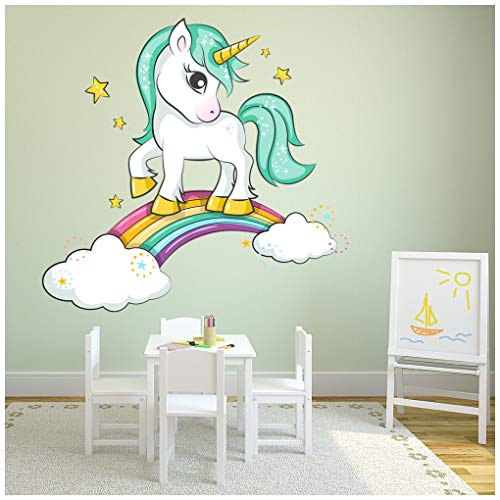 azutura Sparkle Unicorn Nubes Arcoiris Vinilos Disponible en 8 Tamaños Gigantesco Digital