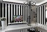 Yosot Einfache Moderne Schwarz-Weiß Gestreifte Tapete Schlafzimmer Salon Friseur Shop Shop Hintergrund Wand Tapeten