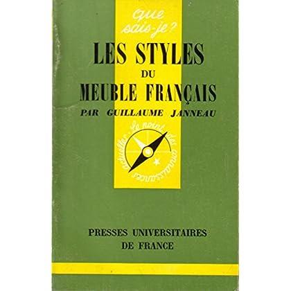 Les styles du meuble français (Mobilier, Artisanat, Menuiserie, Styles) 1972.