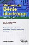 Mémento de Génie Électrique : 50 Fiches de Synthèse