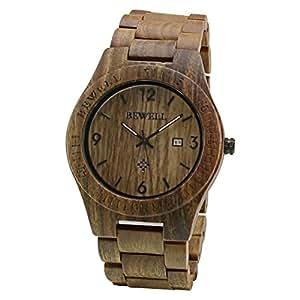 Bewell orologio legno uomo orologi da polso wood watch for Orologio legno amazon
