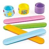 Baker Ross Schnapp-Armbänder aus Moosgummi für Kinder zum individuellen Gestalten (8 Stück)
