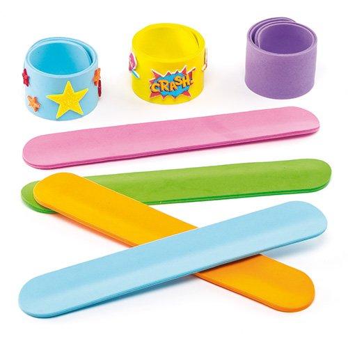 Baker Stand (Baker Ross Schnapp-Armbänder aus Moosgummi für Kinder zum individuellen Gestalten (8 Stück))