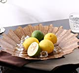 ZHDC® Fruit Tray, Glas Round Bowl Medium Brown Fruit Tray Kontinentale Wohnzimmer Küche Restaurant Couchtisch Kreativität Persönlichkeit Keramik Fruit Bucket Obstschale Fruit Plate 33CM 22CM Keramikschale im japanischen Stil ( größe : 22cm )