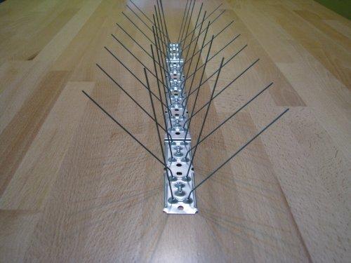 50cm 5 reihig Taubenspikes EU-Produkt Edelstahl Profiqualität Vogelabwehr Taubenabwehr