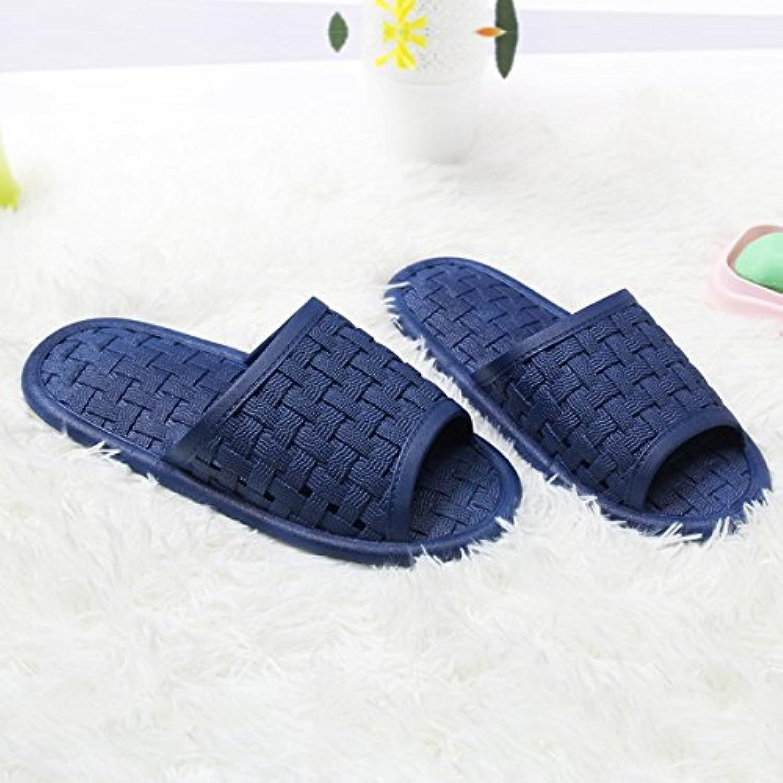 fankou Parejas de Verano Zapatillas de Baño Baño casa de plástico Antideslizante Zapatillas Cool,Hembra 44-45,...
