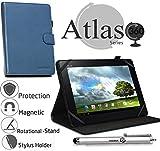 Navitech Blau 8 Zoll rotierbares Stand Case Cover Etui Hülle für das Xoro TelePAD 795 20,1 cm (7,9 Zoll) Tablet-PC
