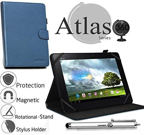 Navitech stilvolles rotierbares 10 Zoll Stand Case Cover Hülle in Blau mit Stylus Pen für das Odys Lux 10 Tablet-PC