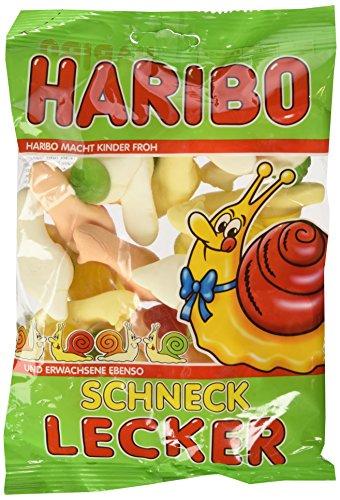 Haribo Schneck Lecker, Gummibärchen, Weingummi, Fruchtgummi, Im Beutel, Tüte, 200 g