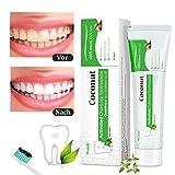 Aktivkohle Zahnpasta, Wotek Schwarze Zahnpasta für weiße zähne, Teeth Whitening Charcoal Toothpaste, Whitening Zahnpasta, Kokosnuss Zahnpasta Zähne Aufhellen, Whitening Toothpaste, Zahnaufhellung