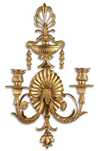 Casa-Padrino candelabro de la Pared barroca Oro 29.5 x 16 x H. 53.5 cm - Decoración de la Sala de...