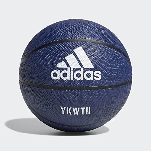 adidas F18BMDAM800 Damian Lillard Signature Basketball, Dark Blue/White, Size 7 -