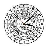 xuyuandass Relojes De Pared para Sala De Estar Círculo De Quintos Músico Compositor Música Enseñanza Ayuda Moderno Colgante Músico Armonía Teoría Estudio De Música Habitación Decoración