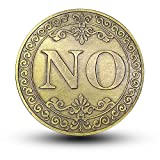 Xinzhi - Sammlung Münze Gedenkmünze Schmuck Münze Emulation Runde JA Nein Metall Politik Entscheidung Münze Spiel Währung