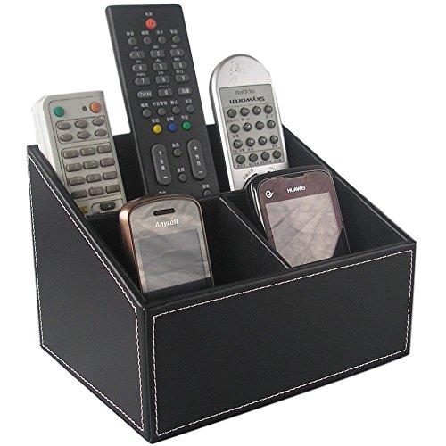 KINGFOM - Organizador de mando a distancia, color negro