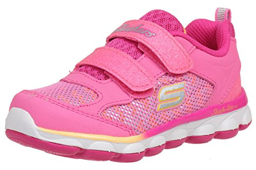 Skechers Girls Lil' Jumpers Breathable Mesh Padded Lined Trainers -