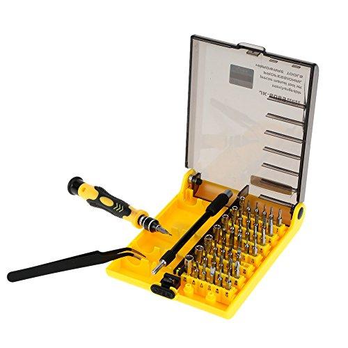 KKmoon 45-in-1 Professionelle Hardware Schraubenzieher Werkzeug Schraubendreher Set für Reparatur von Handys, Festplatten und andere elektronische Produkte