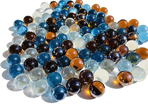 CRYSTAL KING, palline di vetro colorate, diametro di 16 mm, 500 g, adatte per la decorazione