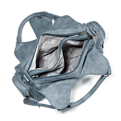 Rieker - H1112, Borsa A Tracolla da donna Blu (Adria)