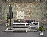 Garden Impressions Hohe Dinning Aluminium Lounge Blakes White Rechts, inklusive XL Bank und wasserabweisender Kissen
