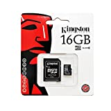 Kingston 16GB Class-4 Micro SDHC Memory Card for Samsung Galaxy S4, Galaxy S3, Galaxy S3 Mini, BlackBerry Q10, Q5, Z10, Z30, 9720, BlackBerry Curve 9320, Xperia Z, Xperia Z1, Z1 Ultra, Xperia M, Xperia SP, Xperia T, HTC One Max, Nokia Lumia 1320, Lumia 15