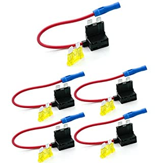Qiorange Circuit Fuse Tap Piggy Back Standard Blade Ato Atc Fuse Holder Box 12V 24V (5pcs)