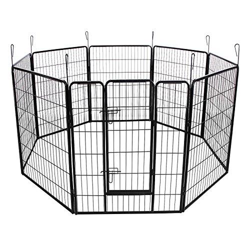 songmics-recinzione-recinto-per-cani-conigli-animali-di-ferro-100-x-80-cm-nero-ppk81h