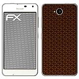 atFolix Microsoft Lumia 650 Skin FX-Honeycomb-Brown Designfolie Sticker - Waben-Struktur/Honigwabe