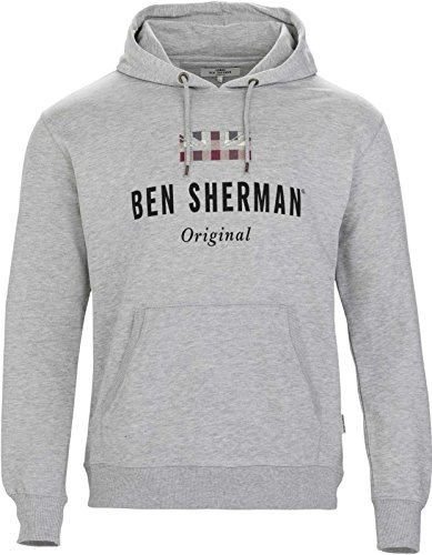 Ben Sherman Herren Pullover Original Hoodie, Grau (Grey 250), XXX-Large