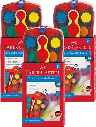 Faber-Castell 125031 - Farbkasten CONNECTOR mit 24 Farben, inklusive Deckweiß von Faber-Castell