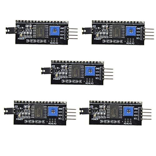 HiLetgo 5pcs 5V 2004 1602 LCD IIC I2C Adapter IIC