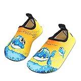 Kinder Badeschuhe Wasserschuhe Strandschuhe Schwimmschuhe Aquaschuhe Surfschuhe Barfuss Schuh für Jungen Mädchen Kleinkind Beach Pool(Gelb 22 23)