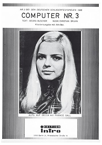 computer-nr-3-as-performed-by-france-gall-single-songbook-german-edition