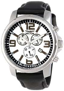 Sector - R3271689001 - Montre Homme - Quartz Chronographe - Bracelet Cuir Noir