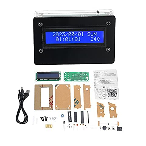 KKmoon USB DC5V 1602 LCD Digital DIY Uhr Kit mit