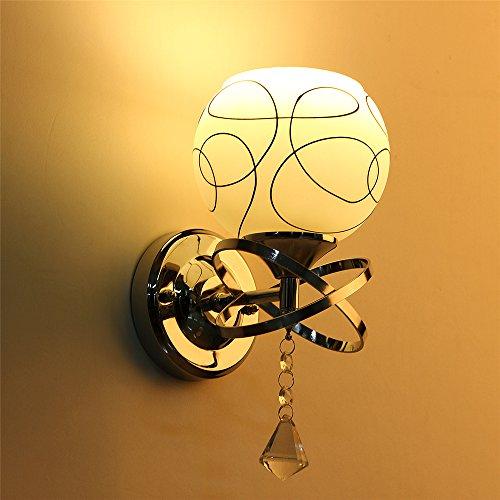 Solmore nuovo applique da parete teste moderno lampada da parete cristallo e27 lampada da - Applique da camera da letto ...