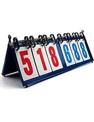 firelong deporte marcador portátil mesa superior puntuación Flipper estructura de metal ligero y portátil–Partituras de 0–999