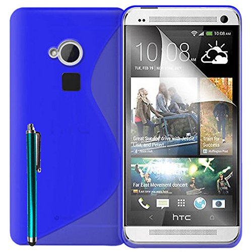 Schutzhülle weich Silikon Gel, Motiv S-Line für HTC One Max/Dual Sim - Dual Sim Htc One Max