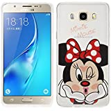 Samsung Galaxy J5 (2016) Caso HCN PHONE Cubierta de silicona TPU Transparente Ultra Fina Dibujo animados bonito para Samsung Galaxy j5 (2016) - Minnie Mouse