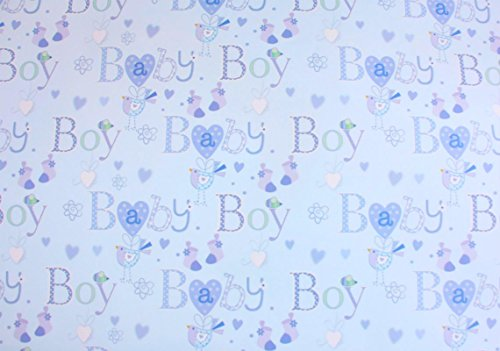 Simon Elvin Baby Boy Wrapping Paper 2 Sheets Of Gift Wrap One