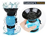 #2: Orange Creations Dog Bottle Outdoor Portable Dog Water Bottle Travel Water Drink Bottle Bowl for Pet Cat Bottle Press Auto Dog Mug Dog Water bottle 500ML